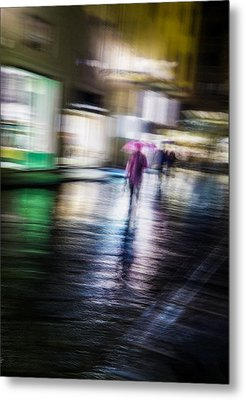 Metal Print featuring the photograph Rainy Streets by Alex Lapidus