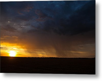 Rainy Sunset  Metal Print by Brandon  Ivey