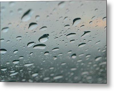 Rainy Window Metal Print by Shane Ostrom