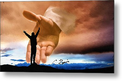 Raise Me Up Jesus Metal Print