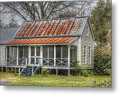 Raised Cottage With Tin Roof Metal Print by Lynn Jordan