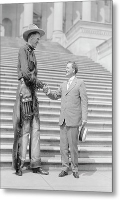 Ralph Madson And Us Senator Metal Print by Library Of Congress