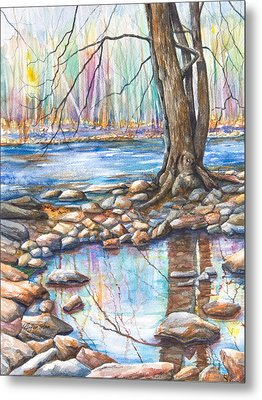 Ralph Stover Park In The Spring Metal Print by Patricia Allingham Carlson
