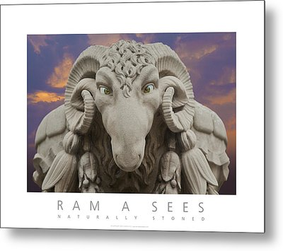 Ram A Sees Naturally Stoned Poster Metal Print by David Davies