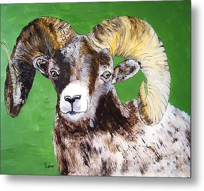 Ram Metal Print by Lucia Grilletto