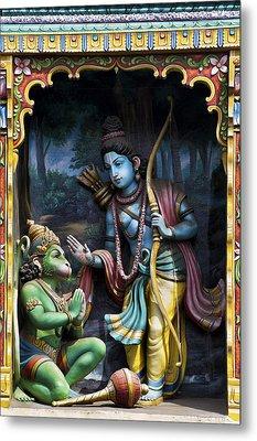 Rama And Hanuman  Metal Print by Tim Gainey