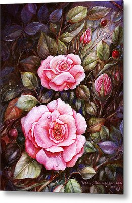 Rambling Rose Metal Print by Patricia Schneider Mitchell