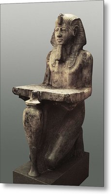 Ramesses II With The Table Of Abydoss Metal Print