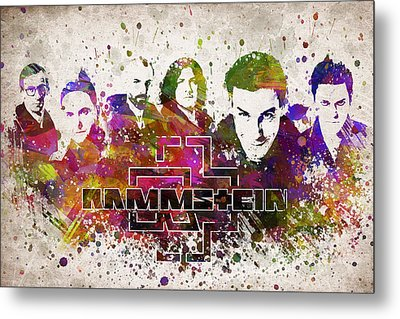 Rammstein In Color Metal Print by Aged Pixel