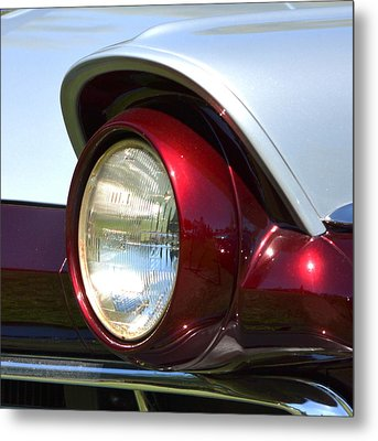 Ranch Wagon Headlight Metal Print by Dean Ferreira