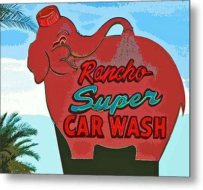 Rancho Super Car Wash Metal Print by Charlette Miller