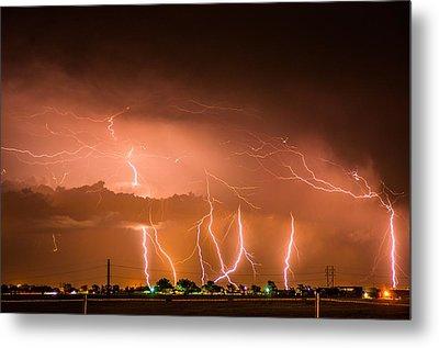 Randall Lightning Metal Print