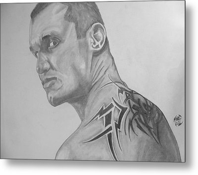 Metal Print featuring the drawing Randy Orton by Justin Moore