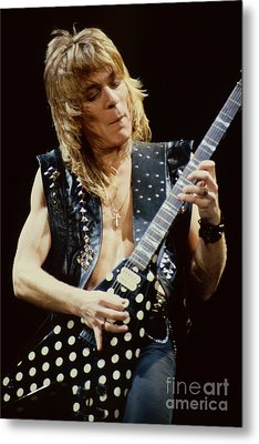 Randy Rhoads At The Cow Palace During Guitar Solo Metal Print