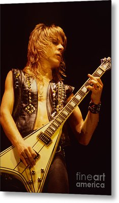 Randy Rhoads At The Cow Palace In San Francisco Metal Print by Daniel Larsen