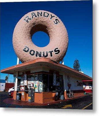 Randy's Donuts Metal Print by Stephen Stookey