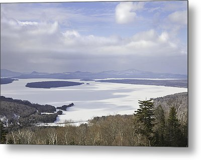 Rangeley Maine Winter Landscape Metal Print