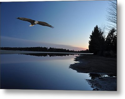Rangeline Lake Metal Print