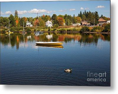 Rangely Lake In Fall Metal Print by Brenda Giasson