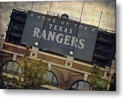 Rangers Ballpark In Arlington Color Metal Print by Joan Carroll