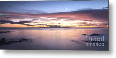 Rangitoto Before Dawn Auckland New Zealand Metal Print by Colin and Linda McKie