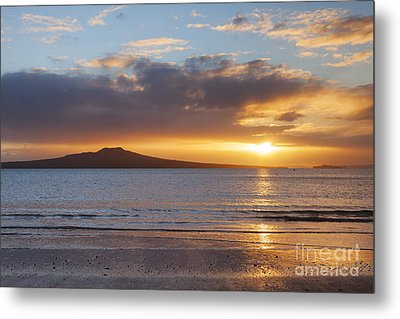 Rangitoto Sunrise Auckland New Zealand Metal Print by Colin and Linda McKie
