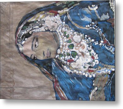 Metal Print featuring the painting Rani by Vikram Singh