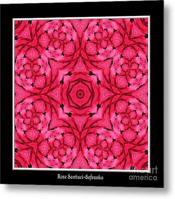Ranunculus Flower Warp Metal Print by Rose Santuci-Sofranko