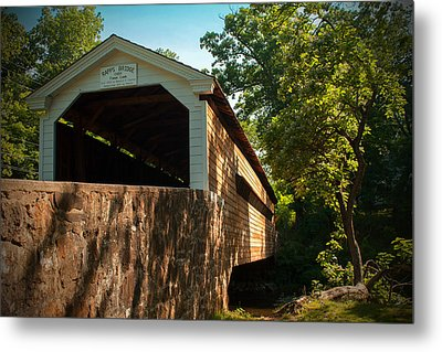 Rapps Covered Bridge Metal Print by Michael Porchik