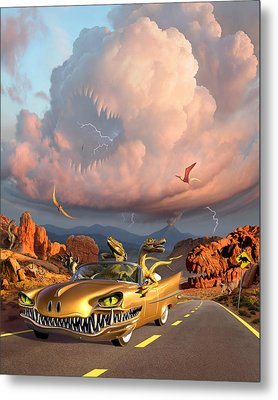 Rapt Patrol Metal Print by Jerry LoFaro