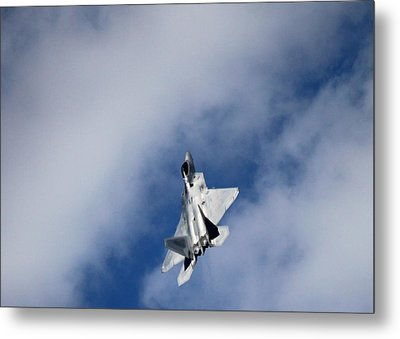 Raptor In The Clouds Metal Print