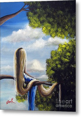 Rapunzel Original Artwork From My Acrylic Painting Metal Print by Shawna Erback