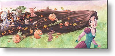 Rapunzel's Halloween Metal Print by Richard Moore