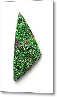 Rare Bright Green Uvarovite Garnet Metal Print by Dorling Kindersley/uig