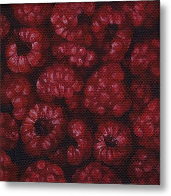 Metal Print featuring the painting Raspberries by Natasha Denger