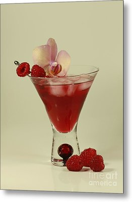 Raspberry Cosmos Supreme Metal Print by Inspired Nature Photography Fine Art Photography