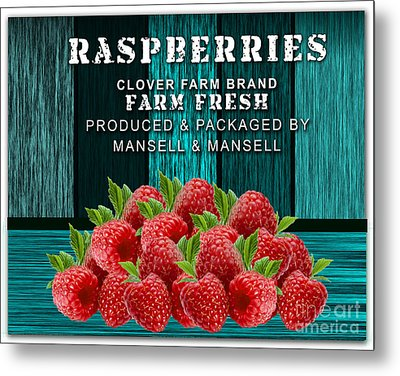 Raspberry Farm Metal Print by Marvin Blaine