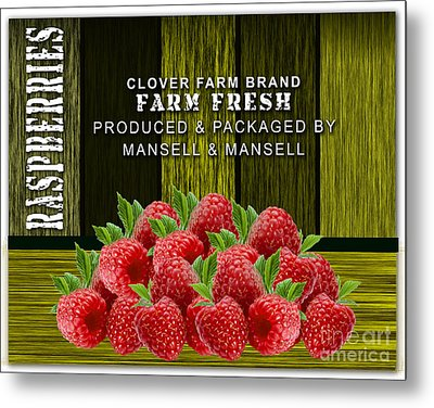 Raspberry Fields Metal Print by Marvin Blaine