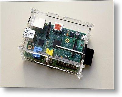 Raspberry Pi Micro-computer Metal Print