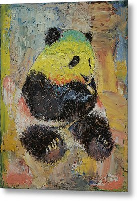Rasta Panda Metal Print by Michael Creese
