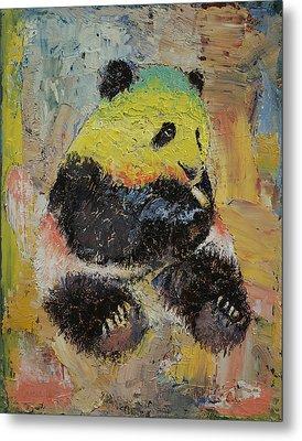 Rasta Panda Metal Print