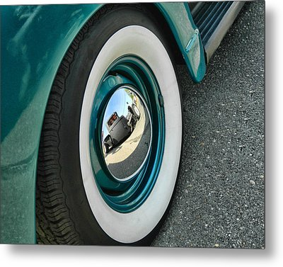 Metal Print featuring the photograph Rat Rod Reflection by Victor Montgomery