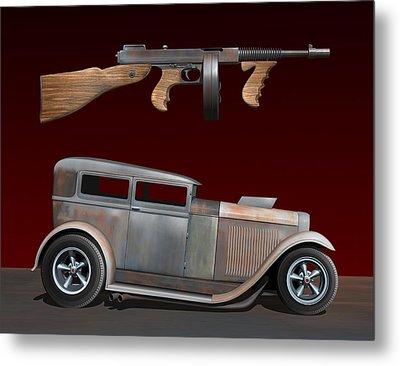 Rat Rod Sedan Iv Metal Print