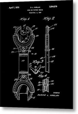 Ratchet Wrench Patent Metal Print
