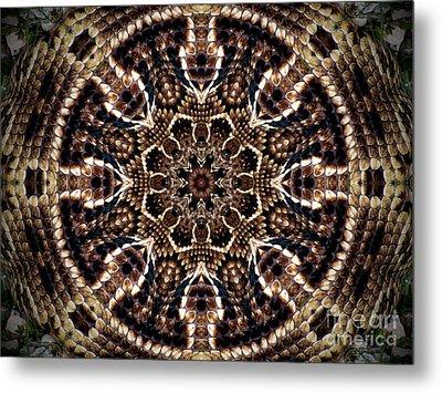 Rattlesnake Circle Metal Print