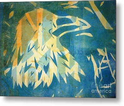 Raven Blue Metal Print