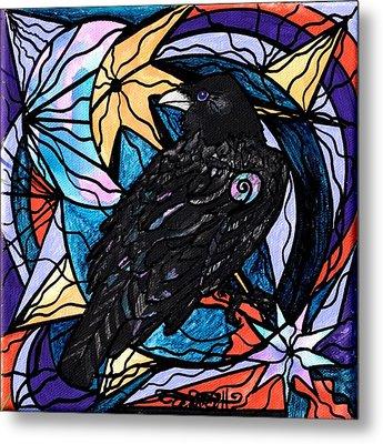 Raven Metal Print by Teal Eye  Print Store