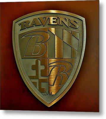 Ravens Coat Of Arms Metal Print by Robert Geary