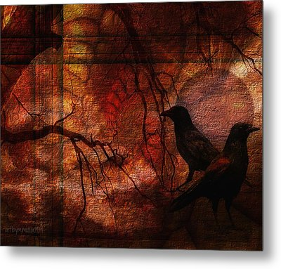 Ravens World Edited Metal Print