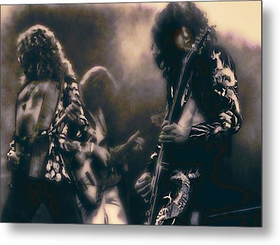 Raw Energy Of Led Zeppelin Metal Print